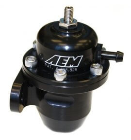 AEM Fuel Pressure Regulator, Honda, 20-60 PSI, (25-303BK)