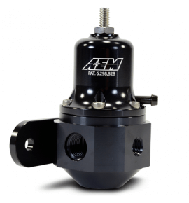 AEM Universal Fuel Regulator, 40-130 PSI, (25-305BK)