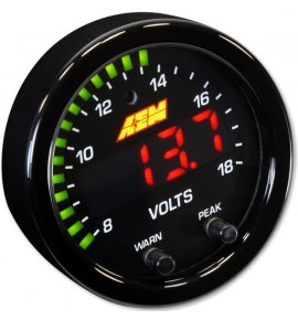 AEM X-Series Digital Volts Gauge, 8-18V (30-0303 )