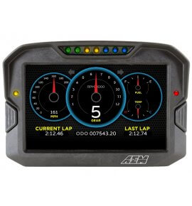 AEM CD-7 Carbon Digital Racing Dash Displays, With Logging Display, (30-5701)