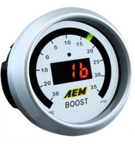 AEM Electronic Boost Display Gauge (Display reads -30 ~ +50PSI) 30-4408