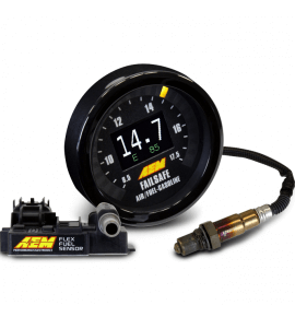 AEM Monitor AFR, ethanol content & boost/vacuum + Failsafe in one gauge (30-4911)