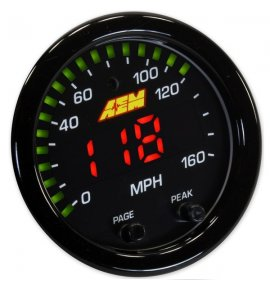 AEM X-Series GPS Speedometer Delivers MPH, Altitude, Heading & Track Mapping (30-0313)