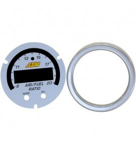 AEM X-Series Uego Gauge Faces Plate Kit in Silver, Fits 30-0300/30-0334,  (30-0300-ACC)