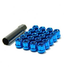 Muteki Classic Lug Nuts, Blue (Open Ended), M12x1.25P, (MUT-31885U)