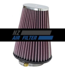 "K&N Universal Chrome Air Filter - 2.4"" inlet x 6"" high , 62mm (RC-3680)"