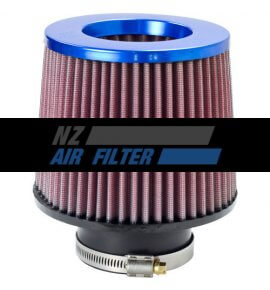 "K&N Blue Inverted Top Universal Air Filter - 3"" Inlet x 5"" long , 76mm  (RR-3002)"