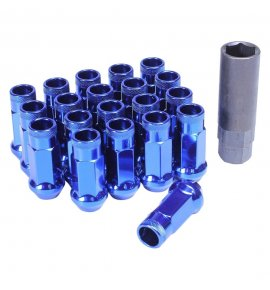 Muteki SR48 Long Open End Lug Nuts, Blue, M12x1.5P, (SR48-32906U)