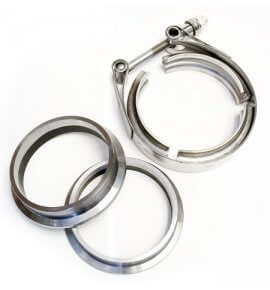 "3.25"" V-Band, (3pc set) Stainless Steel, High Quality (Machined in NZ)"
