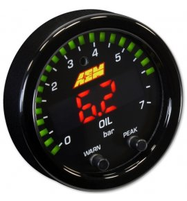 AEM X-Series Oil/Fuel Pressure Gauge 0~100psi / 0~7bar (30-0301)