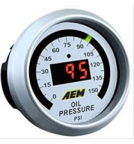 AEM Digital Oil Pressure Gauge. 0~150psi (30-4407)