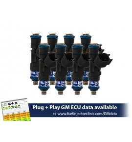 Fuel Injector Clinic, Injection Set for LS2 Engines (High-Z) FIC 1000cc Injectors, Set of 8, 14mm