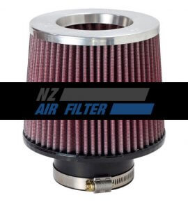 "K&N Silver Inverted Top Universal Air Filter - 3"" Inlet x 5"" long , 76mm (RR-3003)"