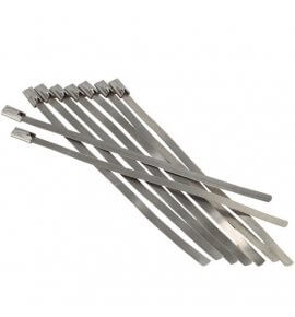 "Stainless Cable Ties, 360mm Long x 15pc (Used for 3.5"" piping & smaller)"