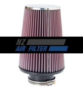 "K&N Universal Chrome Air Filter - 3"" inlet x 8"" long , 76mm (RC-5106)"