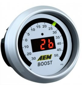 AEM Electronic Boost Display Gauge (Display reads -30 to 50PSI) 30-4408