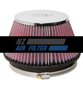 "K&N Universal Chrome Air Filter - 6"" inlet x 4"" long , 152mm (RF-1009)"