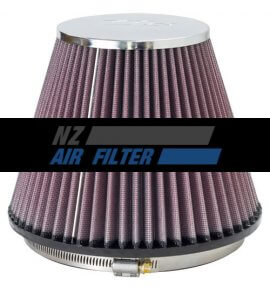 "K&N Universal Chrome Air Filter - 6"" inlet x 6"" long , 152mm (RF-1048)"