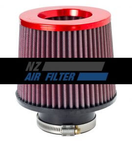 "K&N Red Inverted Top Universal Air Filter -  3"" Inlet x 5"" long ,  76mm (RR-3001)"