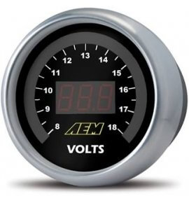 AEM Electronic Voltmeter Display Gauge (Display reads 8-18V) 30-4400