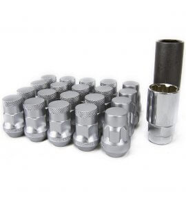 Muteki SR35 Closed End Lug Nuts, Silver, M12x1.25P, (SR35-32925SP)
