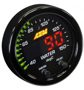 AEM X-Series Water/Transmission/Oil Temperature Gauge, 40-150C, (30-0302)