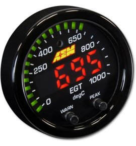 AEM X-Series Digital Exhaust Gas Temperature Gauge, 0~1800F / 0~1000C, (30-0305)