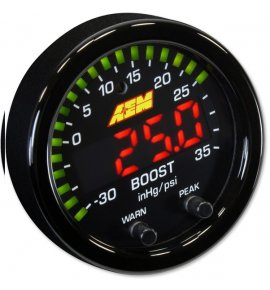 AEM X-Series Boost Pressure Gauge -30in/Hg~35psi / -1~2.5bar (30-0306)