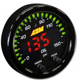 AEM X-Series Oil/Fuel Pressure Gauge 0~150psi / 0~10bar (30-0307)