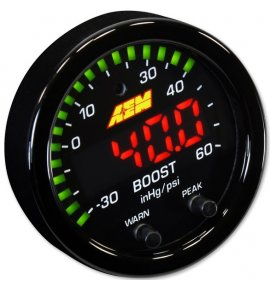 AEM X-Series Boost Pressure Gauge -30in/Hg~60psi / -1~4bar (30-0308)