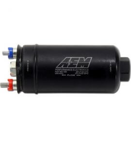AEM 400 LPH Inline External Fuel Pump, Now E85 Compatible - (50-1005)