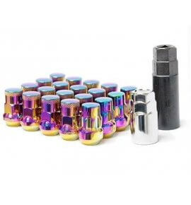 Muteki SR35 Closed End Lug Nuts, Chrome Neon, M12x1.25P, (SR35-32925NP)